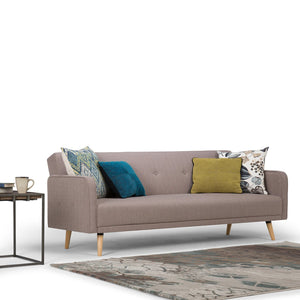 Courtney Linen Look Sleeper Sofa Bed in Mocha