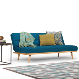 Mediterranean Blue | Spencer Linen Look Sofa Bed