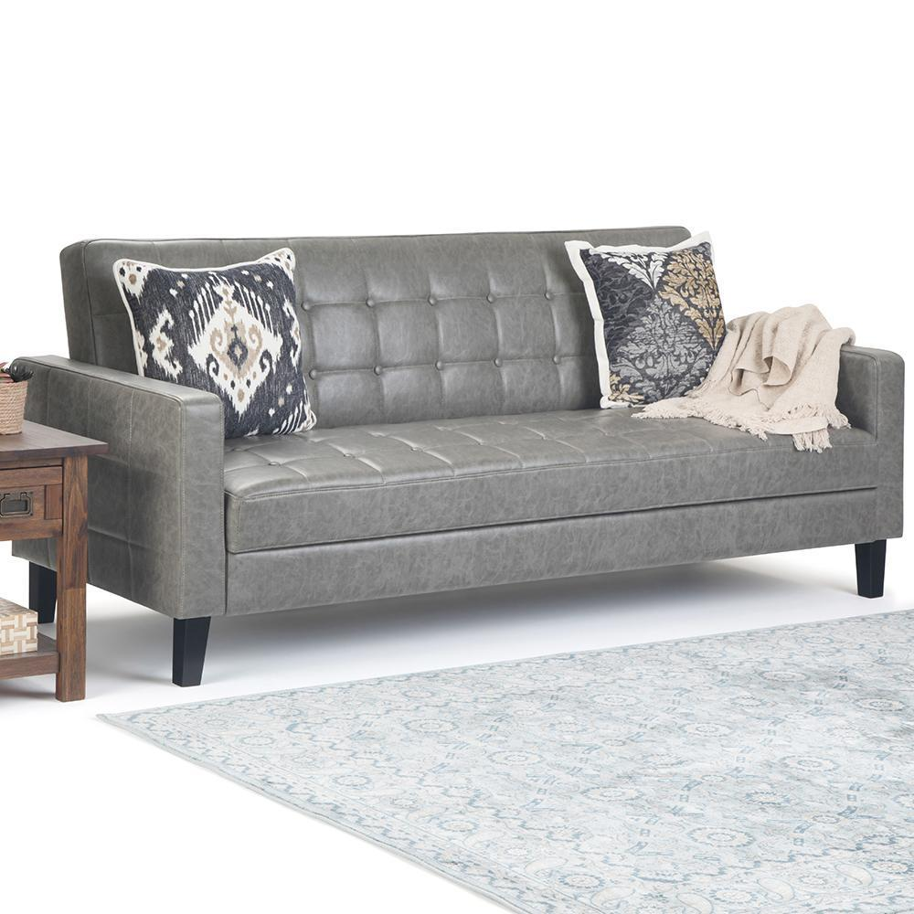 Acton Click Clack Sofa Bed With Lift Up Seat Storage