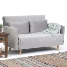 Load image into Gallery viewer, Dove Grey | Piper Roll-Out Sofa Bed