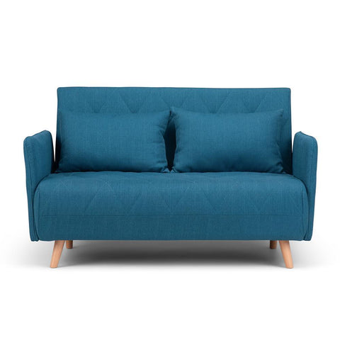 Blue | Piper Roll-Out Sofa Bed