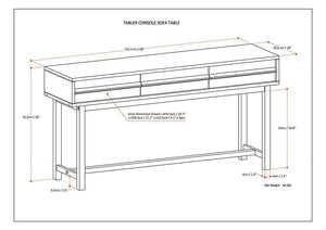 Tabler Wide Console Table