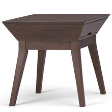 Load image into Gallery viewer, Tessa Solid Hardwood End Side Table in Walnut Brown