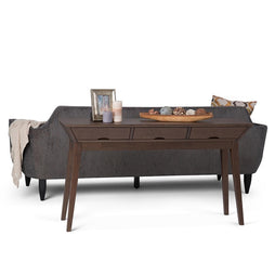 Tessa Solid Hardwood Console Sofa Table in Walnut Brown