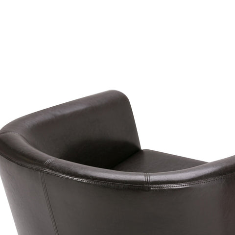Dark Brown PU Faux Leather | Austin Faux Leather Tub Chair