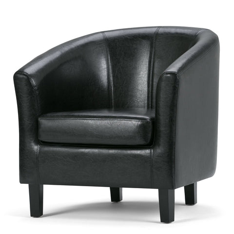 Black PU Faux Leather | Austin Faux Leather Tub Chair