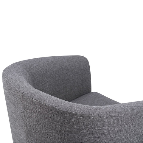 Grey Linen Look Polyester Fabric | Austin Linen Look Fabric Tub Chair
