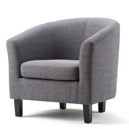 Exceptionnel Grey Linen Look Polyester Fabric | Austin Linen Look Fabric Tub Chair ...