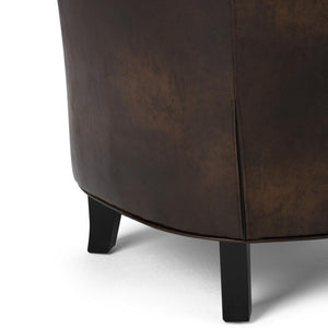 Distressed Brown Bonded Leather | Kildare Tub Chair