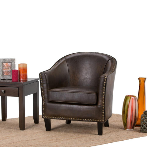 Kildare Bonded Leather Tub Chair