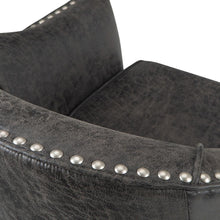 Load image into Gallery viewer, Distressed Charcoal Faux Air Leather | Kildare Tub Chair