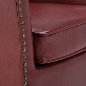 Radicchio Red Bonded Leather | Kildare Tub Chair