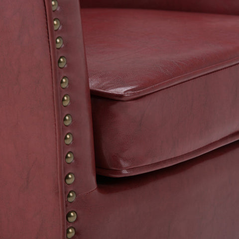 Radicchio Red | Kildare Bonded Leather Tub Chair