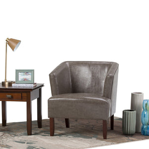 Elephant Grey | Longford Bonded Leather Tub Chair