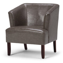 Load image into Gallery viewer, Elephant Grey | Longford Bonded Leather Tub Chair