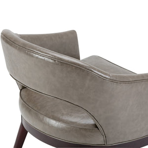 Mallory Mid Century Bonded Leather Tub Chair