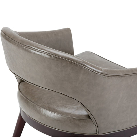 Elephant Grey Bonded Leather | Mallory Mid Century Bonded Leather Tub Chair