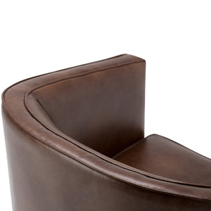 Distressed Brown | Mitchum Bonded Leather Tub Chair