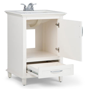 24 inch | Ariana Off White Bath Vanity