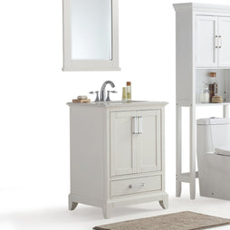 24 inch | Elise Off White Bath Vanity