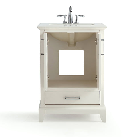 24 inch | Elise Soft White Bath Vanity