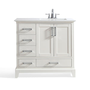 Right Offset | Elise Off White Bath Vanity