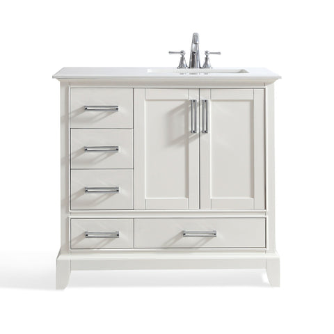 Right Offset | Elise Soft White Bath Vanity