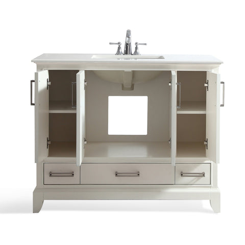 42 inch | Elise Soft White Bath Vanity