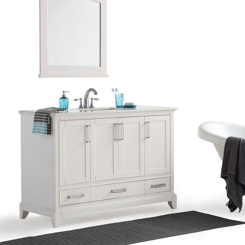 48 inch | Elise Soft White Bath Vanity