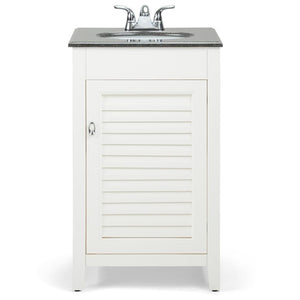 20 inch | Adele 20 inch Bath Vanity in Soft White with Black Granite Top