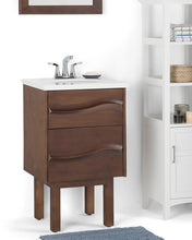 Load image into Gallery viewer, Brown | Marlowe 20 inch Bath Vanity with White Engineered Marble Top