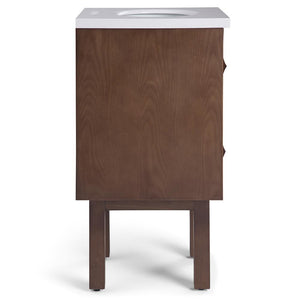 Brown | Marlowe 20 inch Bath Vanity with White Engineered Marble Top