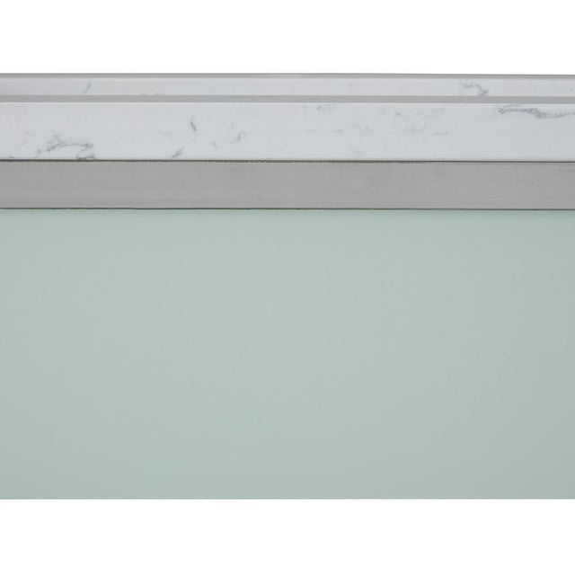 Load image into Gallery viewer, Osbourne 24 inch Bath Vanity in Chrome with White Engineered Marble Top