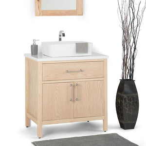 Patton 30 inch Bath Vanity with White Engineered Marble Top