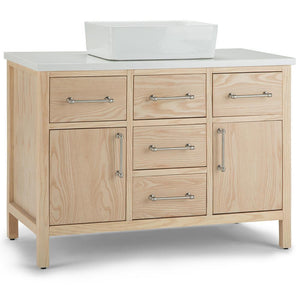 Patton 42 inch Bath Vanity with White Engineered Marble Top