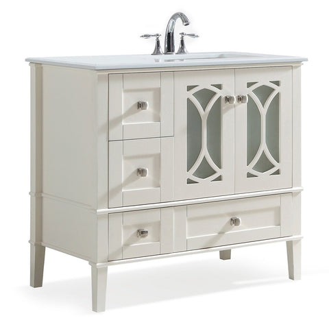 Paige Soft White Bath Vanity