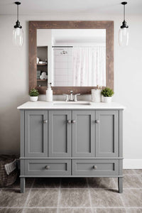 Chelsea 42 inch Bath Vanity with White Quartz Marble Top