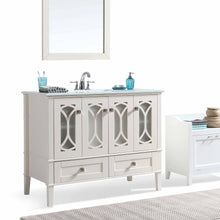 Load image into Gallery viewer, Pure White | Paige 42 inch Bath Vanity with White Engineered Quartz Marble Top