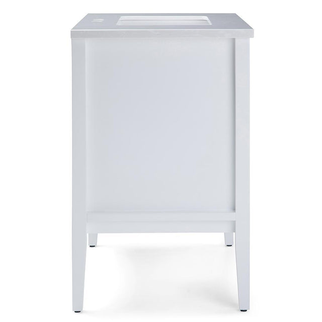 Load image into Gallery viewer, White | Russo 30 inch Bath Vanity with White Veined Engineered Marble Top