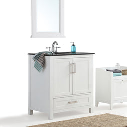30 inch | Evan White Bath Vanity