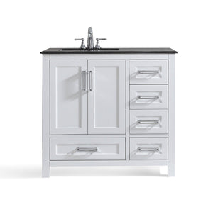 Left Offset | Evan White Bath Vanity