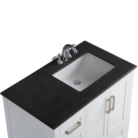 Right Offset | Evan White Bath Vanity