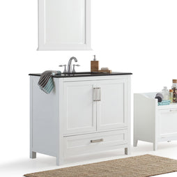 Center | Evan White Bath Vanity