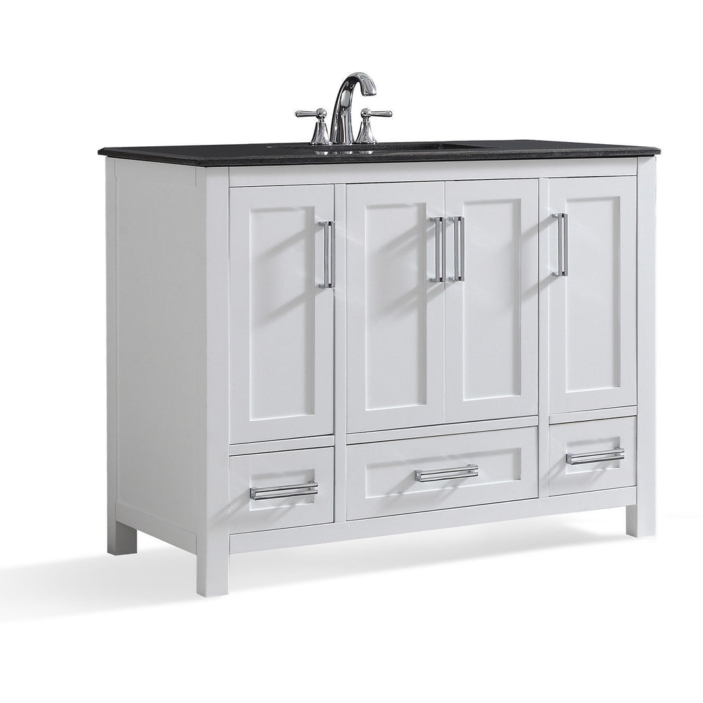 Evan 42 inch Bath Vanity with Black Granite Top