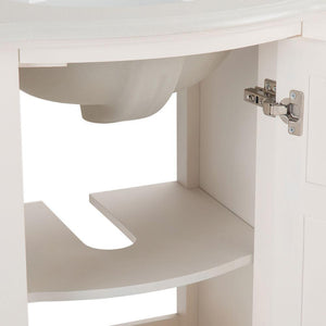 Winston 20 inch Rounded Front Bath Vanity with White Engineered Quartz Marble Top