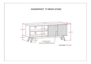 Wainwright TV Media Stand