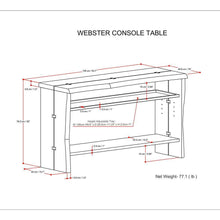 Load image into Gallery viewer, Webster Console Table