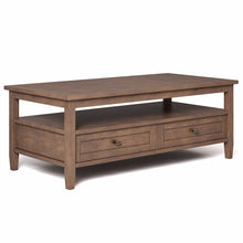 Load image into Gallery viewer, Rustic Natural Aged Brown | Warm Shaker 48 inch Coffee Table