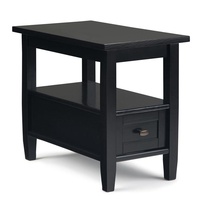 Black | Warm Shaker Narrow Side Table