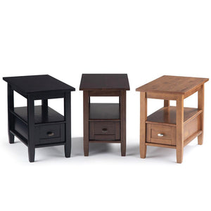 Warm Shaker Narrow Side Table